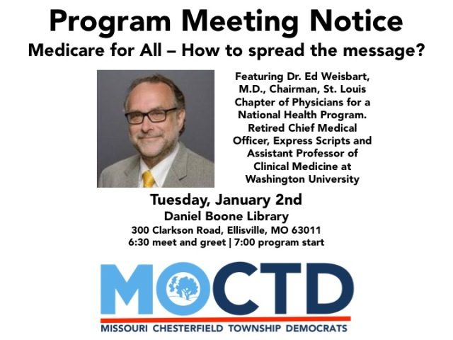 January Monthly Meeting CTD Medicare for All